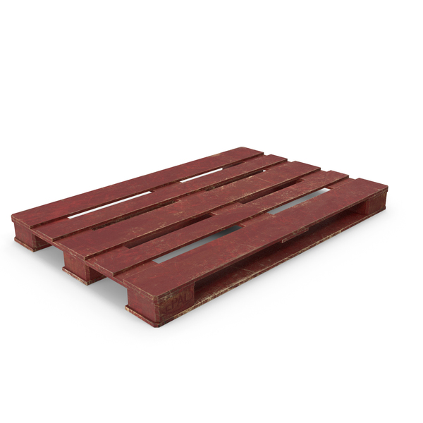 Wood Pallet Painted Red PNG & PSD Images