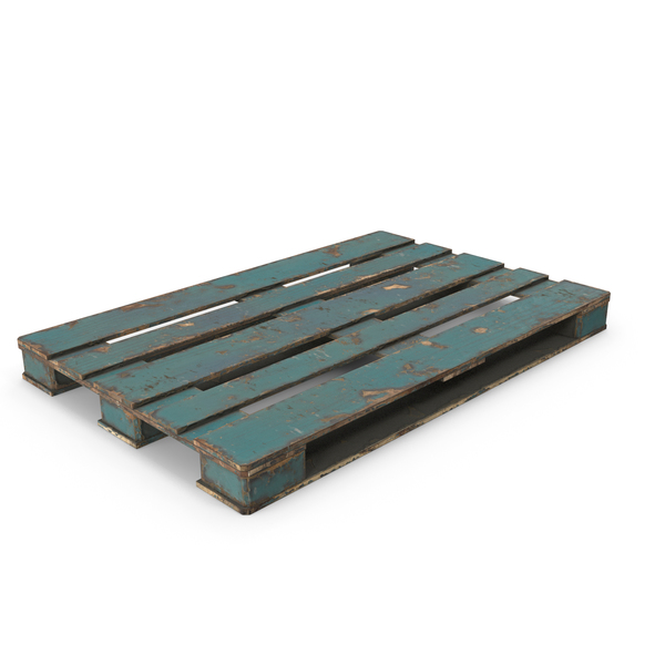 Wood Pallet Peeled Blue PNG & PSD Images