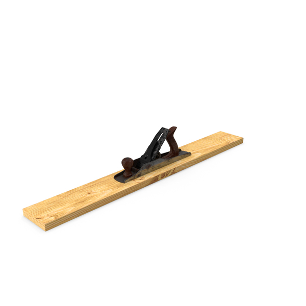 Wood Plane with Board PNG & PSD Images