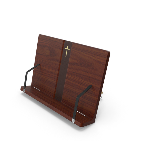 Wood Portable Reading Book Stand PNG & PSD Images