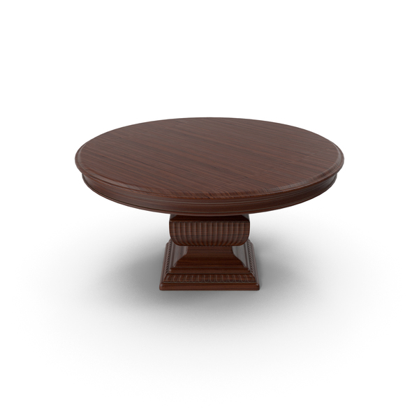 Dining: Wood Round Table PNG & PSD Images