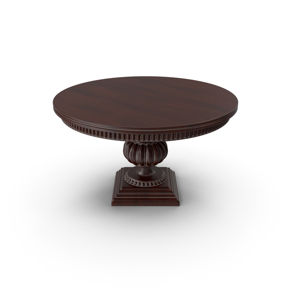 Wood Round Table PNG & PSD Images