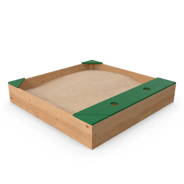 Wood Sandpit with Storage Box PNG & PSD Images