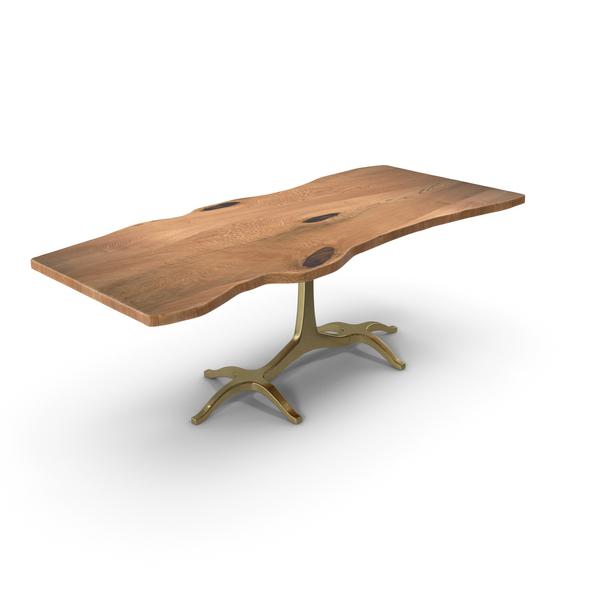Room Set: Wood Slab Dining Table PNG & PSD Images