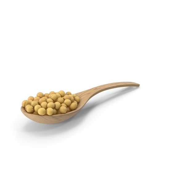 Wood Spoon With Peas PNG & PSD Images