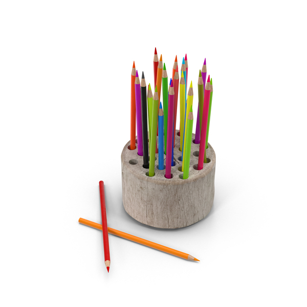 Wood Stump Pencil Holder PNG & PSD Images