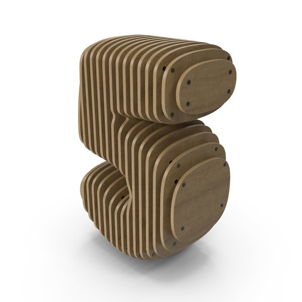 Number: Wood Symbol 5 PNG & PSD Images