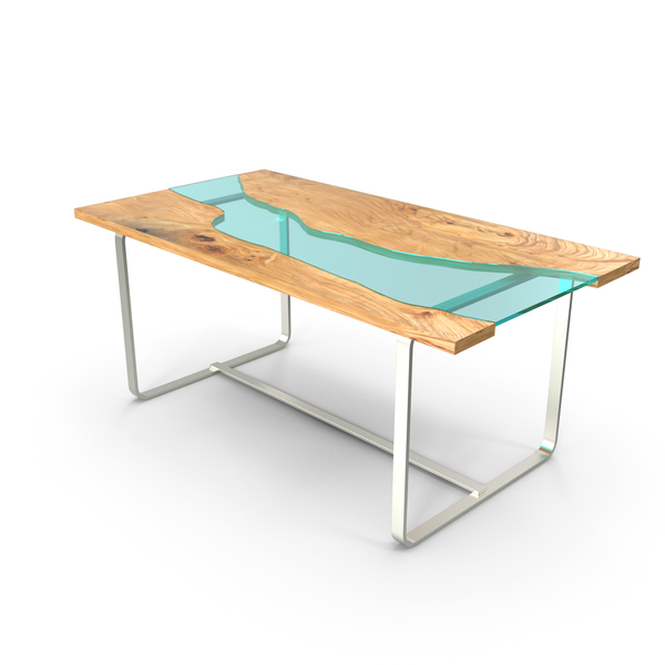Wood Table Glass Rivers PNG & PSD Images