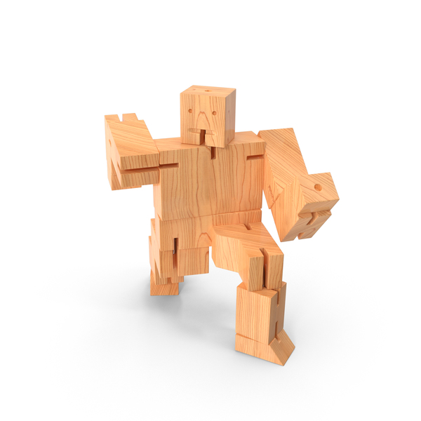Wood Toy Robot PNG & PSD Images