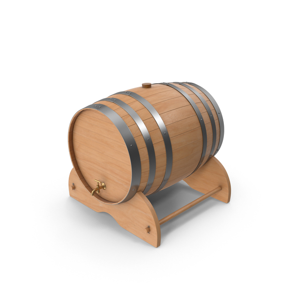 Wood Wine Barrel PNG & PSD Images