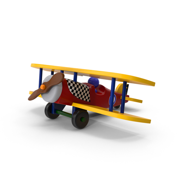 Toy: Wooden Airplane Object