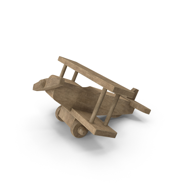 Toy: Wooden Airplane PNG & PSD Images
