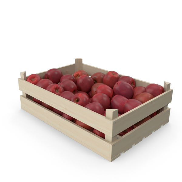 Wooden Apple Crate PNG & PSD Images