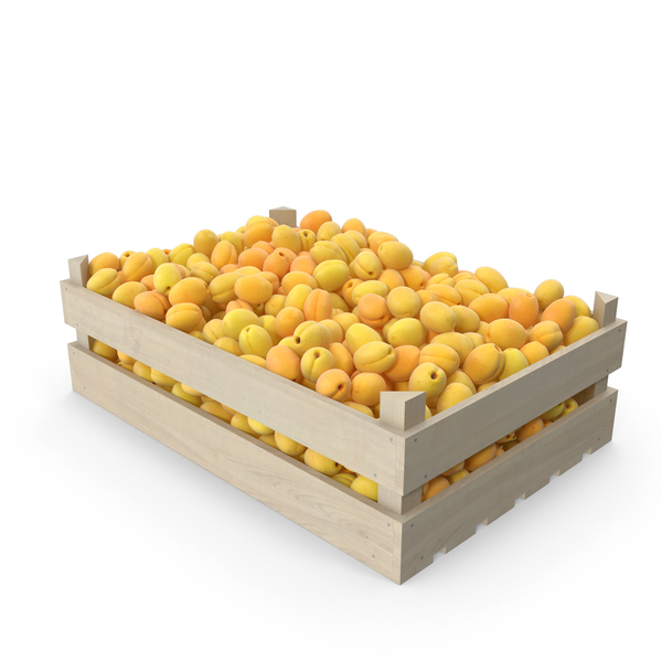 Apricot: Wooden Apricots Crate PNG & PSD Images
