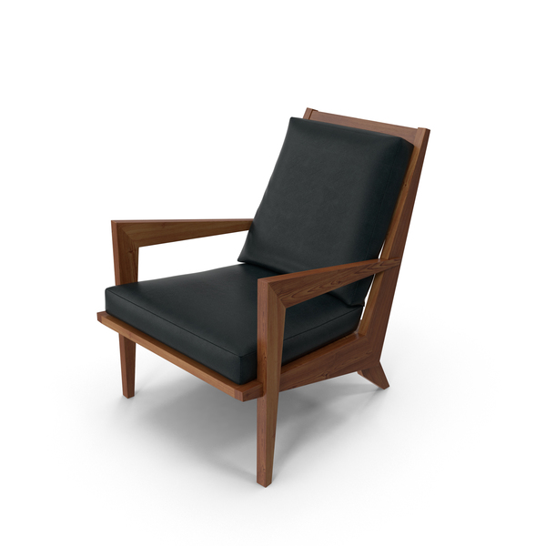 Arm Chair: Wooden Armchair PNG & PSD Images