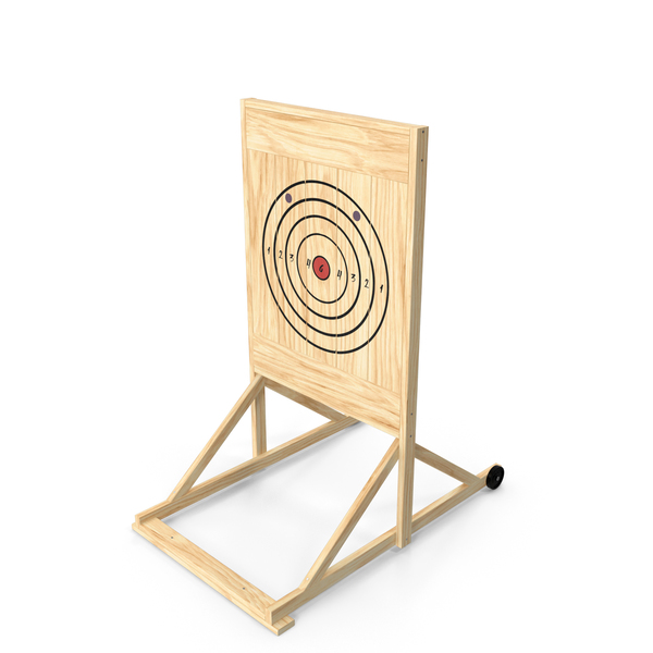 Shooting: Wooden Axe Throwing Target PNG & PSD Images