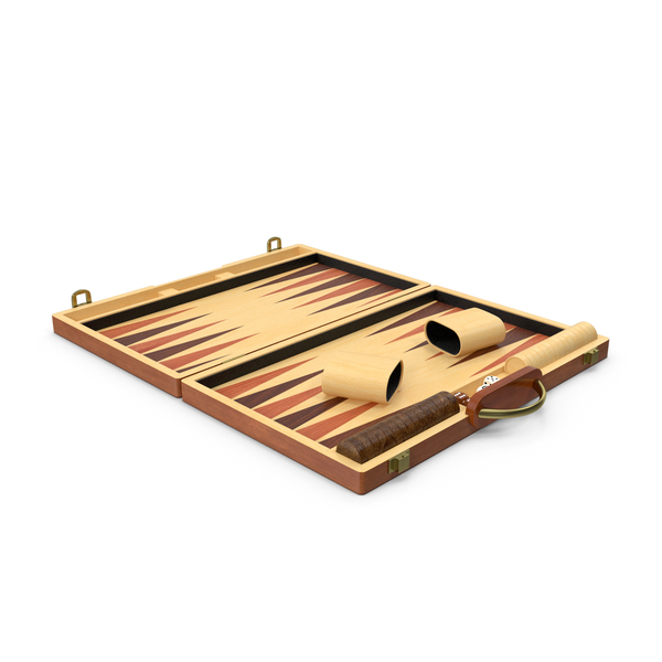 Wooden Backgammon Board Game Set PNG & PSD Images