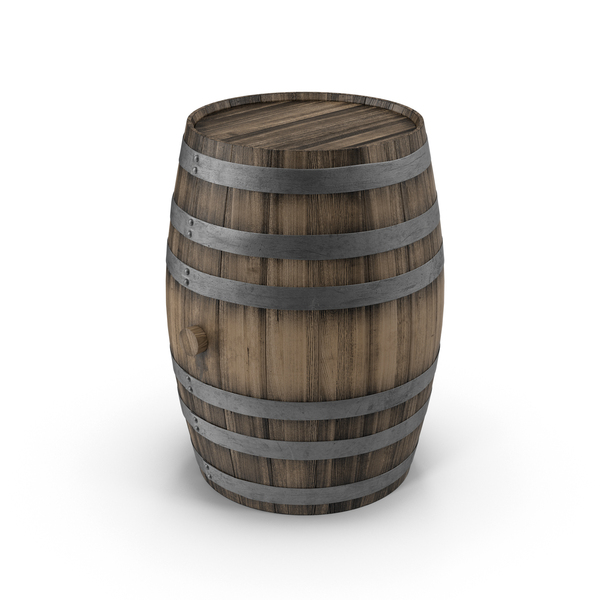 Wooden Barrel Object