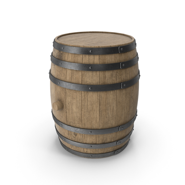 Wooden Barrel Beech Veined PNG & PSD Images