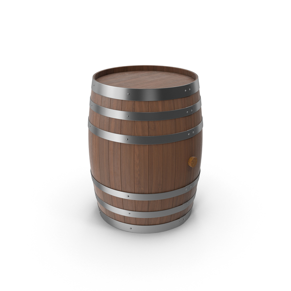 Wooden Barrel Dark PNG & PSD Images