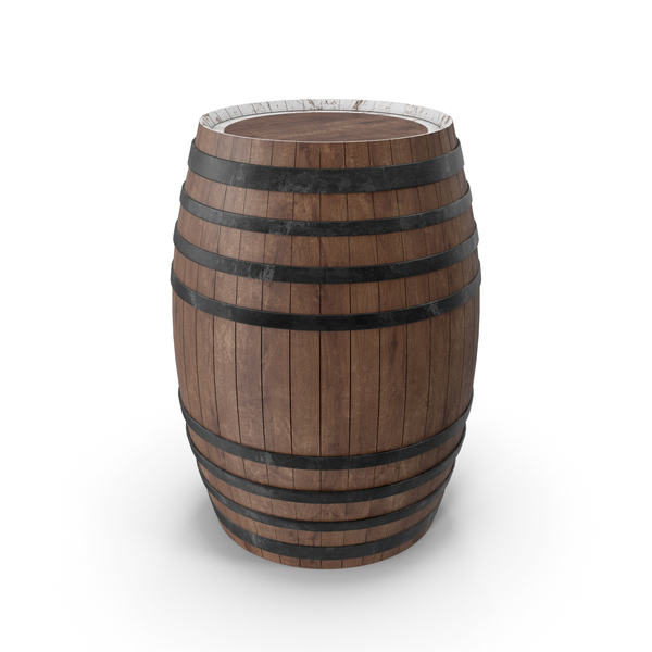 Wooden Barrel Stand PNG & PSD Images
