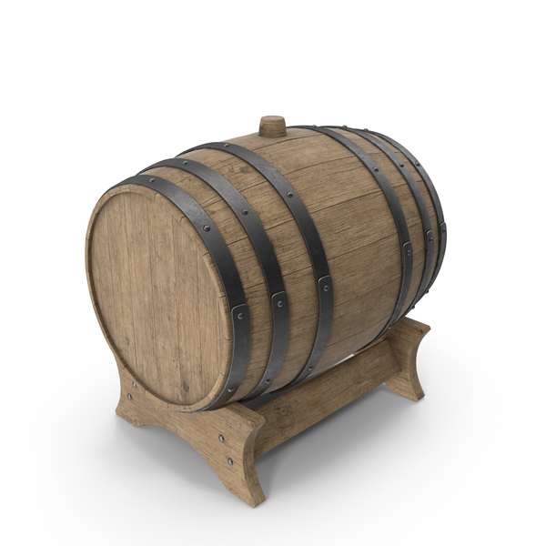 Wooden Barrel Stand Beech Veined PNG & PSD Images