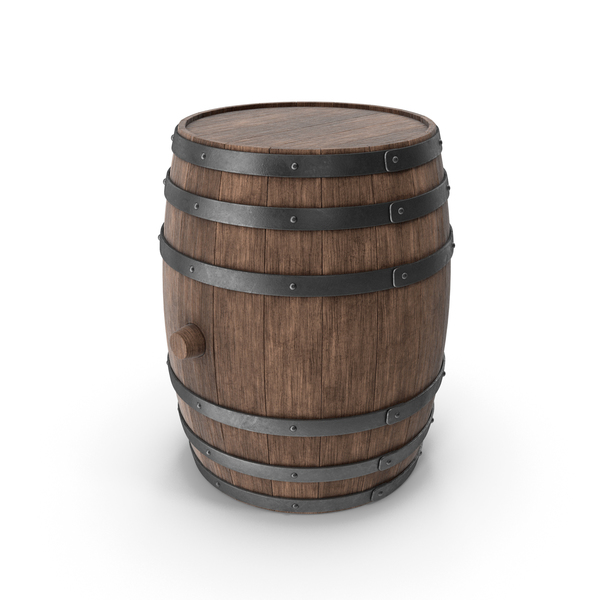 Wooden Barrel Walnut PNG & PSD Images