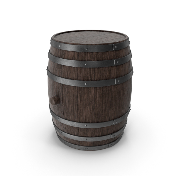 Wooden Barrel Walnut Dark PNG & PSD Images