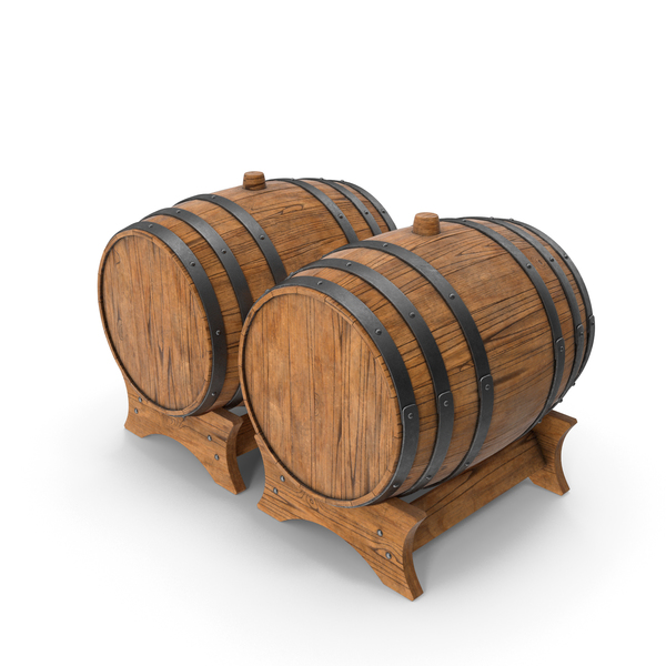 Wooden Barrels Duo Ship Hull PNG & PSD Images