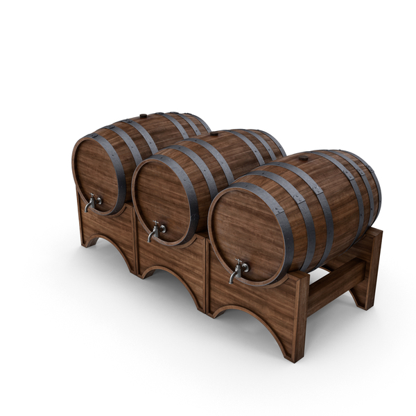 Wooden Barrels Object
