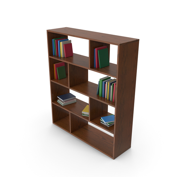 Bookcase: Wooden Book Case PNG & PSD Images