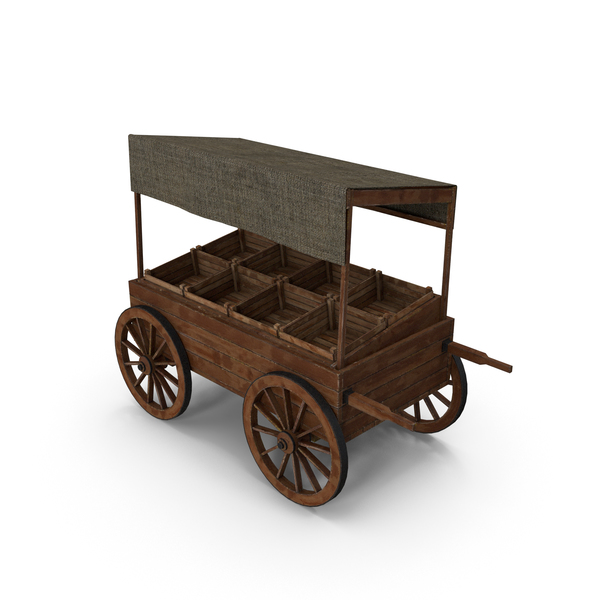 Wooden Cart Market PNG & PSD Images