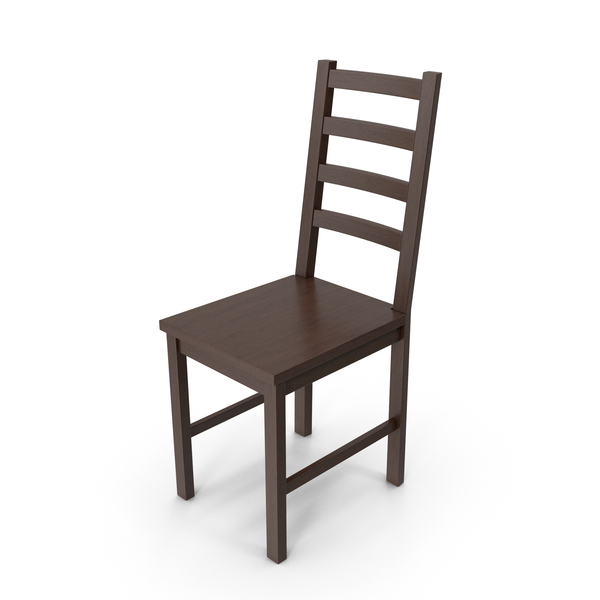 Dining: Wooden Chair Dark PNG & PSD Images