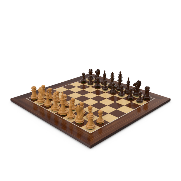 Queen: Wooden Chess Set PNG & PSD Images