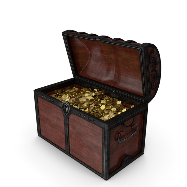 Wooden Chest With Gold Coins PNG & PSD Images