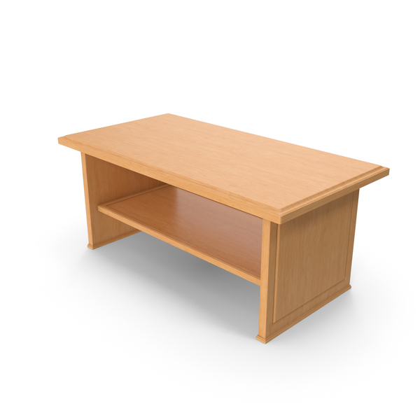 Wooden Coffee Table PNG & PSD Images