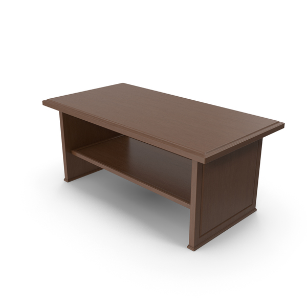 Wooden Coffee Table Dark PNG & PSD Images