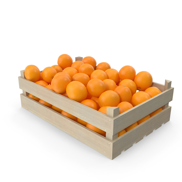 Wooden Crate with Oranges PNG & PSD Images