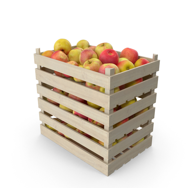Apple: Wooden Crates with Apples PNG & PSD Images