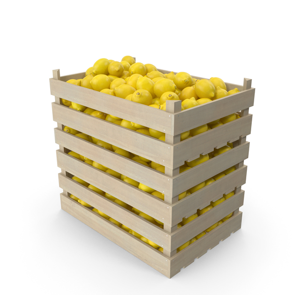 Lemon: Wooden Crates with Lemons PNG & PSD Images