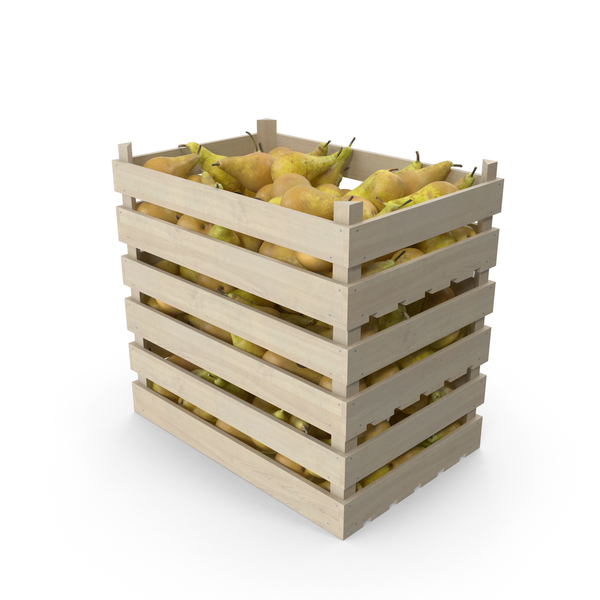 Pear: Wooden Crates with Pears Conference PNG & PSD Images