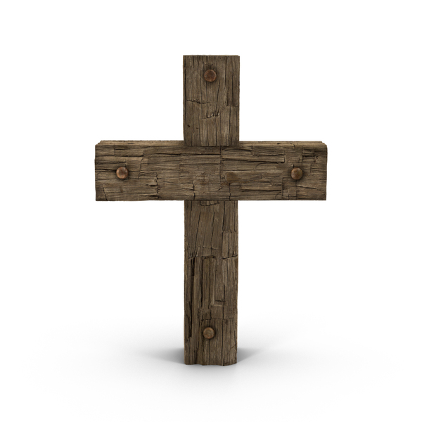 Grave: Wooden Cross Weathered PNG & PSD Images