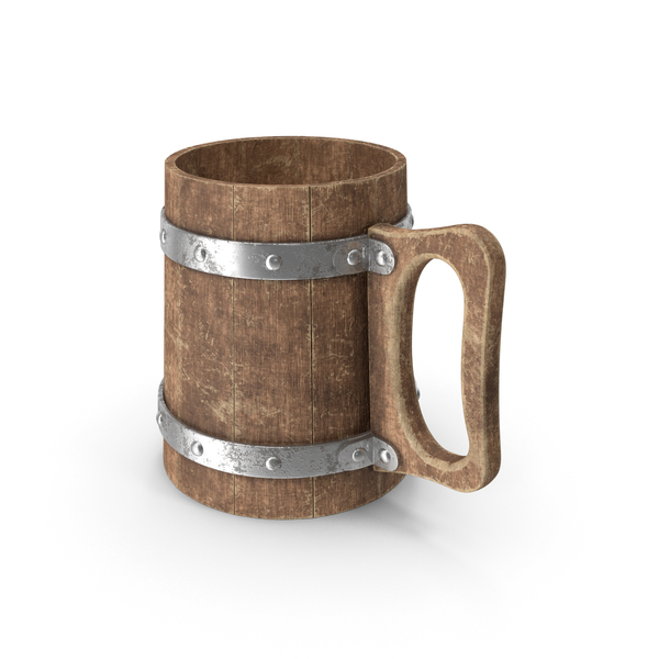 Beer Stein: Wooden Cup Straight PNG & PSD Images