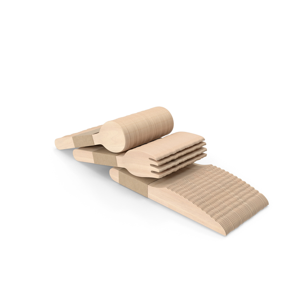 Flatware: Wooden Cutlery Set PNG & PSD Images