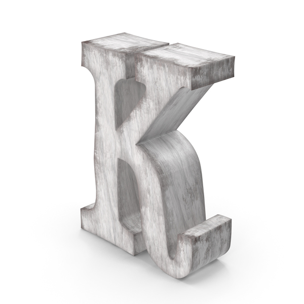 Language: Wooden Decorative Letter K PNG & PSD Images