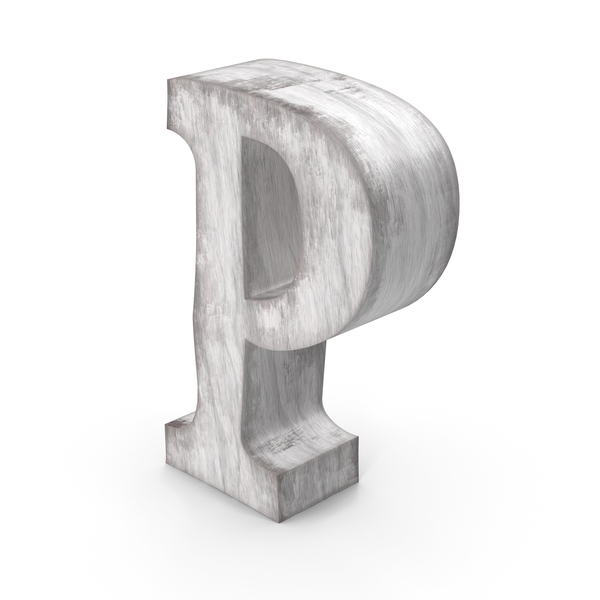 Wooden Decorative Letter P PNG & PSD Images