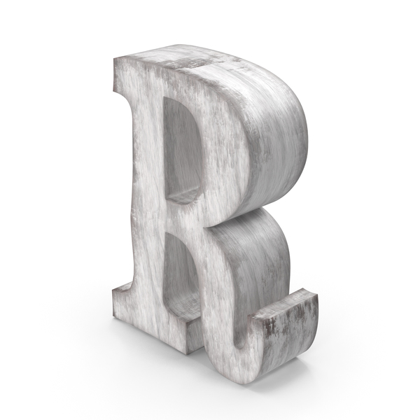 Wooden Decorative Letter R PNG & PSD Images