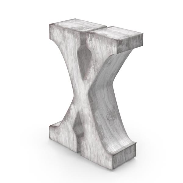 Language: Wooden Decorative Letter X PNG & PSD Images