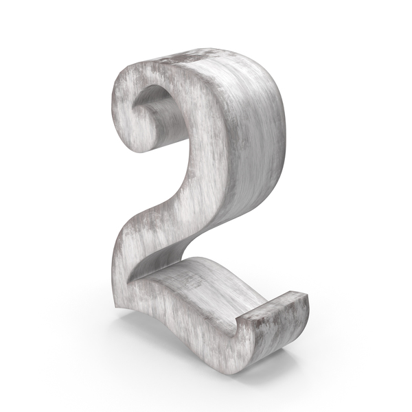 Wooden Decorative Number 2 PNG & PSD Images