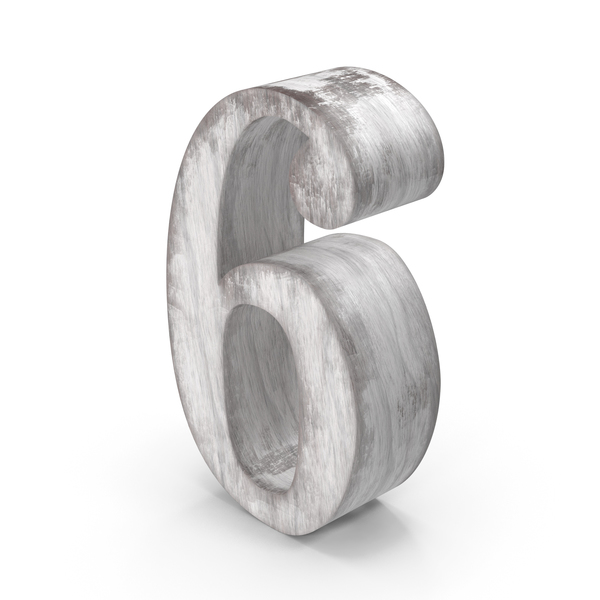 Wooden Decorative Number 6 PNG & PSD Images